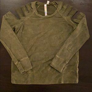 Green Malibu Sugar long sleeve sweater